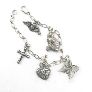 Jewelry - Vintage Silver Tone Charm Bracelet